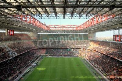 Fototapeta Stadion San Siro podczas meczu piłki nożnej w AC Milan