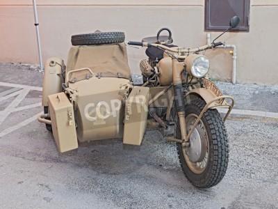 Stare Bmw R75 750 Cc World War Ii Era Motocykla Z Wózkiem Bocznym
