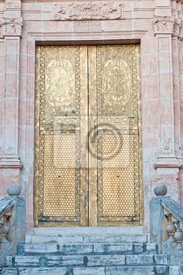 Fototapeta stare drzwi kościoła