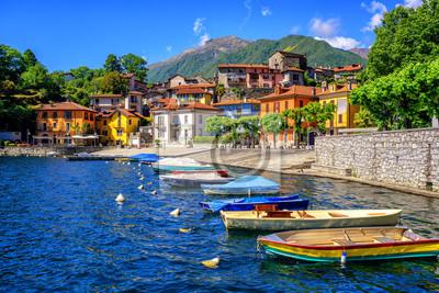 Fototapeta Stare miasto Mergozzo, Lago Maggiore, Włochy