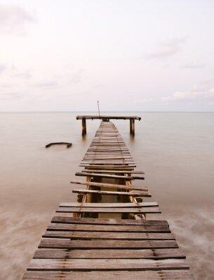 Fototapeta Stare molo morze