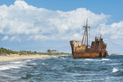 Fototapeta Stare tamtejsze Wielki statek