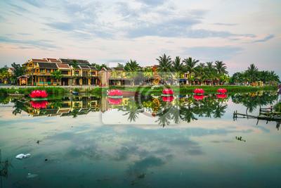 Fototapeta Starożytnego miasta Hoi An, Wietnam na jednej rano