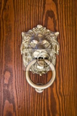 Fototapeta Starożytny drzwi kołatka