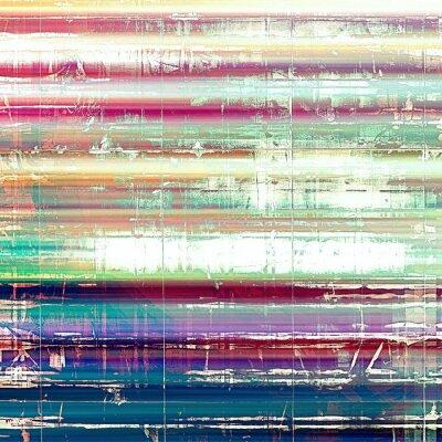 Fototapeta Stary abstrakcyjne grunge, retro tekstury wieku. Z różnych wzorów kolor: żółty (beżowe); różowy; niebieski; biały; Zielony