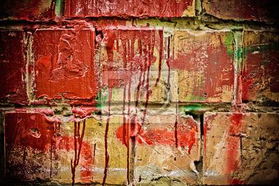 Fototapeta stary ceglany mur