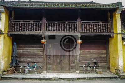 Fototapeta Stary chiński tradycyjny drewniany dom w Hoi An Ancient Town, Vietnam.Hoi An, Wietnam