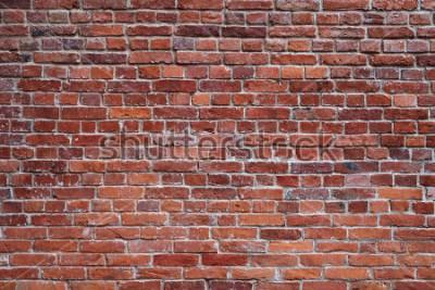Fototapeta stary czerwony ceglany mur tekstura tło