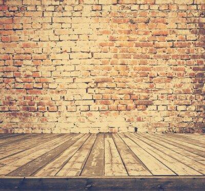 Fototapeta stary pokój z murem, retro sączy stylu Instagram