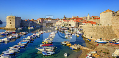 Fototapeta Stary port miasto Dubrownik, Chorwacja