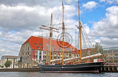Stary statek w Kopenhadze, Dania