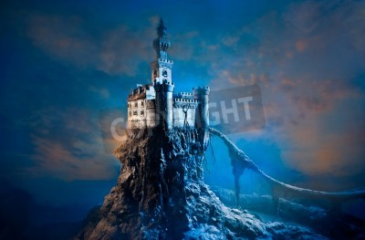 Fototapeta Stary Zamek na wzgórzu