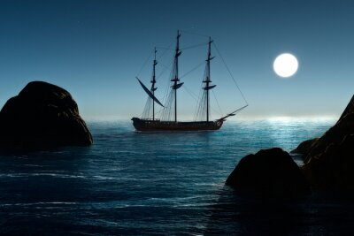 Fototapeta Statek piracki