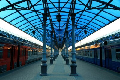 Fototapeta Stazione Ferroviaria Jaroslavskij