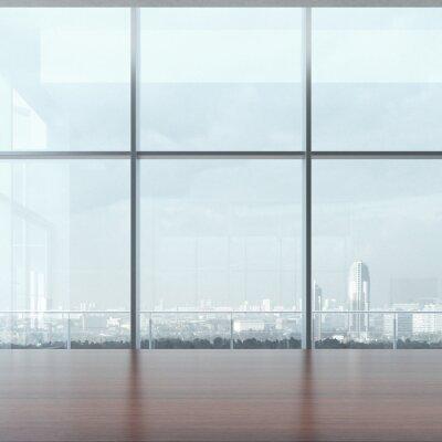Fototapeta Stół biurowy i okna