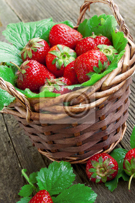 Fototapeta Strawberry basket