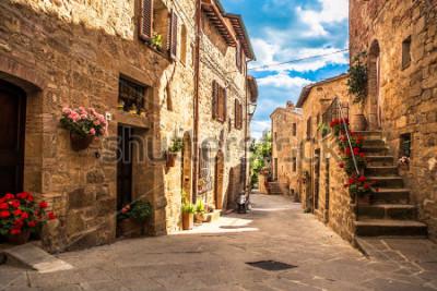 Fototapeta streets of Italian city, Tuscany, Italy