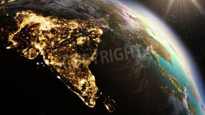 Fototapeta Strefa Planet Earth Azji. Elementy tego zdjęcia dostarczone przez NASA