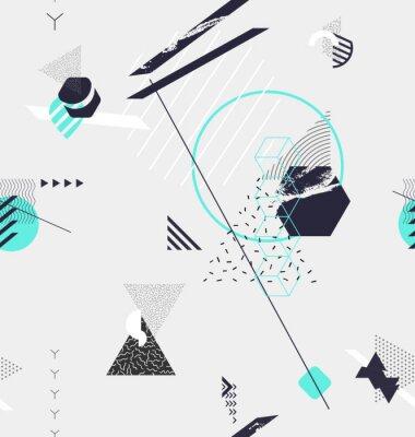 Fototapeta Streszczenie bezszwowych geometrycznych tle