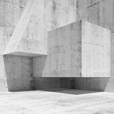 Fototapeta Streszczenie białego betonu wnętrze fragment 3 d