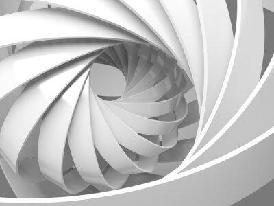 Fototapeta Streszczenie cyfrowe tła z 3d struktury spiralnej