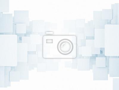 Fototapeta Streszczenie cyfrowych zachodzące na siebie kwadraty 3d