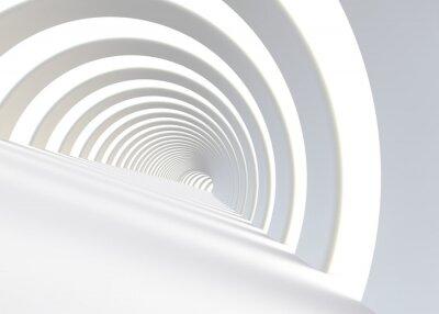 Fototapeta Streszczenie futurystyczny tunel w nowoczesnym stylu