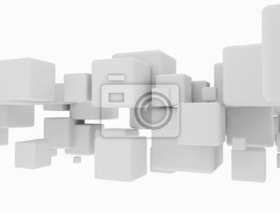 Fototapeta Streszczenie geometryczny kształt kostki 3d