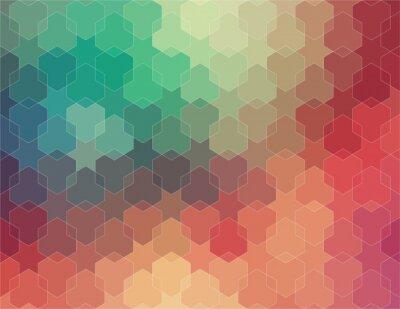 Fototapeta Streszczenie kolorowe tło geometrycznych 2D