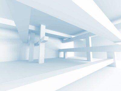 Fototapeta Streszczenie koncepcja architektury. Nowoczesny budynek wnętrz