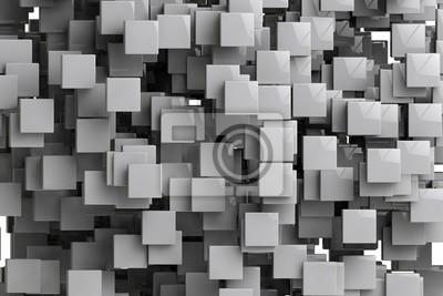 Fototapeta Streszczenie kostki geometryczne tło 3d render