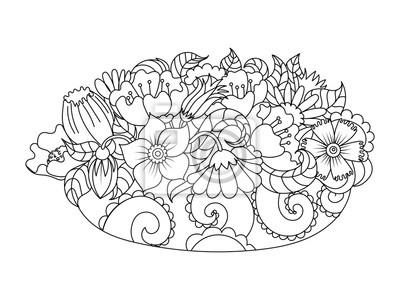 b3adc4924946f1 Streszczenie kwiaty kolorowania ilustracji wektorowych Fototapeta ...
