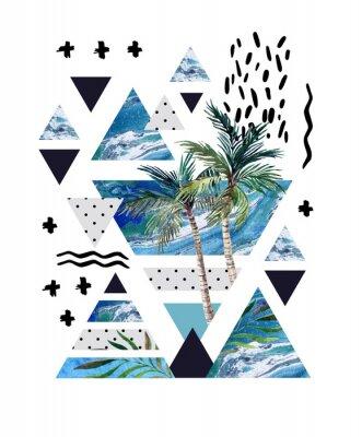 Fototapeta Streszczenie letni geometryczny plakat projektu.