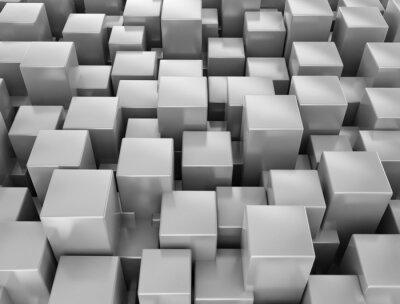 Fototapeta Streszczenie metaliczne tło kostki 3d