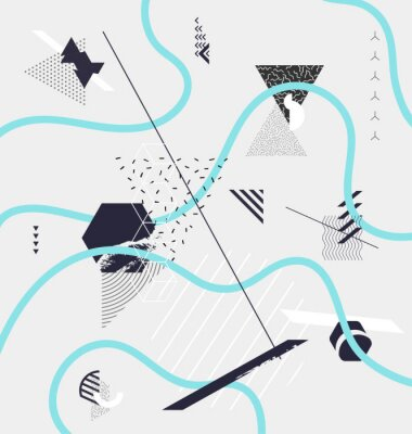 Fototapeta Streszczenie minimalistyczna kompozycja geometryczna
