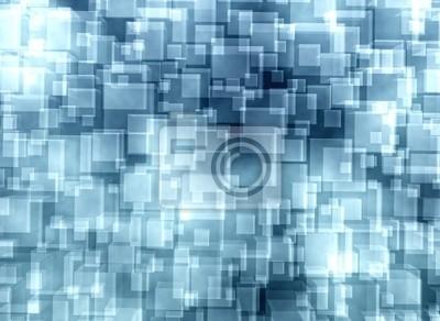 Fototapeta Streszczenie niebieskie kostki szklane