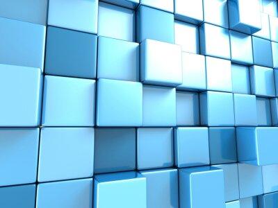 Fototapeta Streszczenie niebieskie kostki tle tapety
