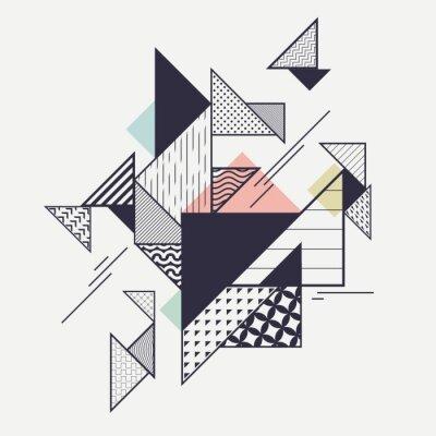 Fototapeta Streszczenie nowoczesnych kompozycji geometrycznych