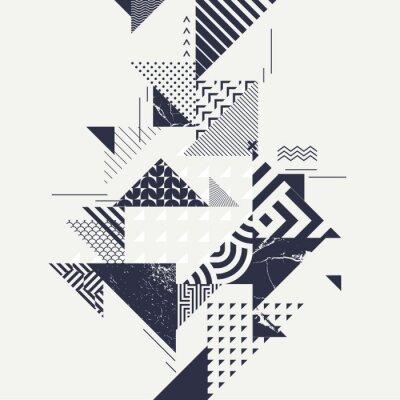 Fototapeta Streszczenie sztuka tło z elementami geometrycznymi