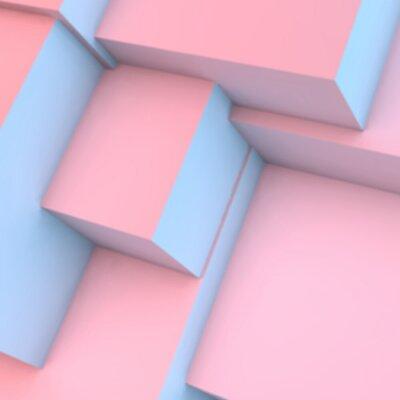 Fototapeta Streszczenie tle z kwarc różowy i kostki serenity