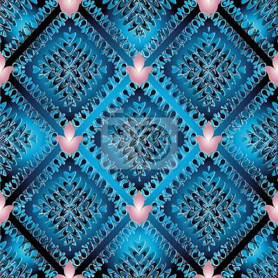 f2f3b547df89a Fototapeta Streszczenie wektor niebieski wzór. Nowoczesne tapety tło z  kwiatowymi kształtami