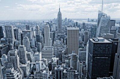 Fototapeta Streszczenie widok z wysokości na Manhattanie