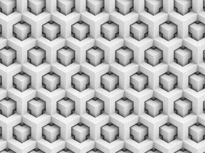 Fototapeta Streszczenie wielokątne 3D szwu - Struktura geometryczna pole tła