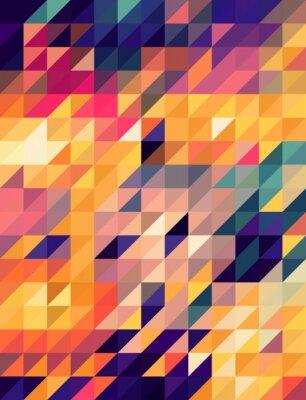 Fototapeta Streszczenie złote tło i niebieskie trójkąty