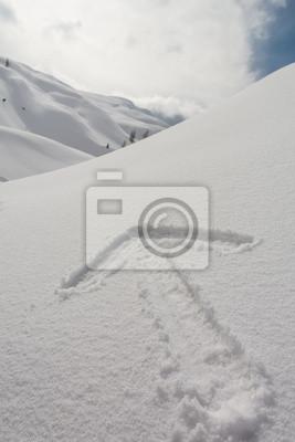 Fototapeta Strzałka sporządzony w śniegu