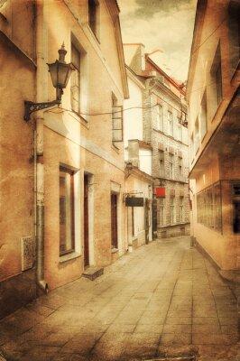 Fototapeta Stylu retro obraz starej europejskiej ulicy