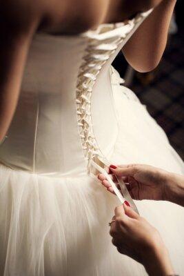 Fototapeta suknia ślubna