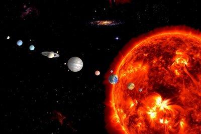 Fototapeta Sun System, elementy są dostarczone przez NASA