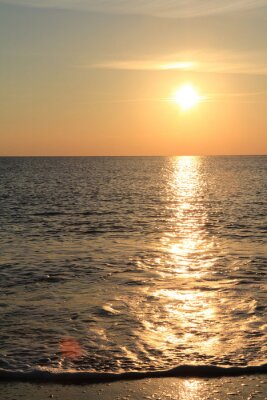 Fototapeta Sundown na morzu