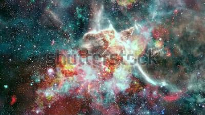 Fototapeta Supernowa eksplozji. Jaskrawa Mgławica Gwiazda. Odległa galaktyka. Nowy rok fajerwerki. Abstrakcyjny obraz. Elementy tego zdjęcia dostarczone przez NASA.